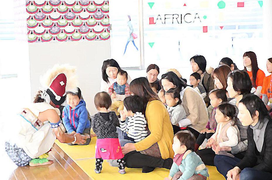 """はじめてのアフリカン""""HAPPY BIRTH"""" ~乳幼児親子のための芸術体験"""